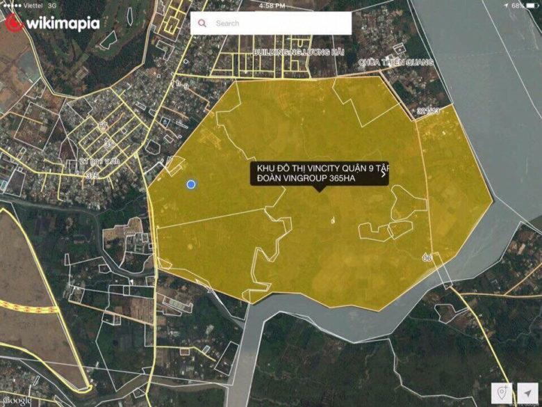 Vị trí khu đô thị Vincity Q9