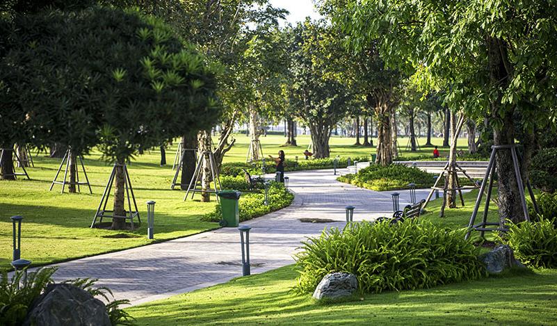Khu đô thị VinCity đề cao chất lượng sống trong đó ưu tiên không gian xanh.