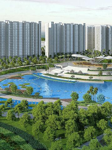 Phối cảnh phân khu cao tầng dự án Vincity