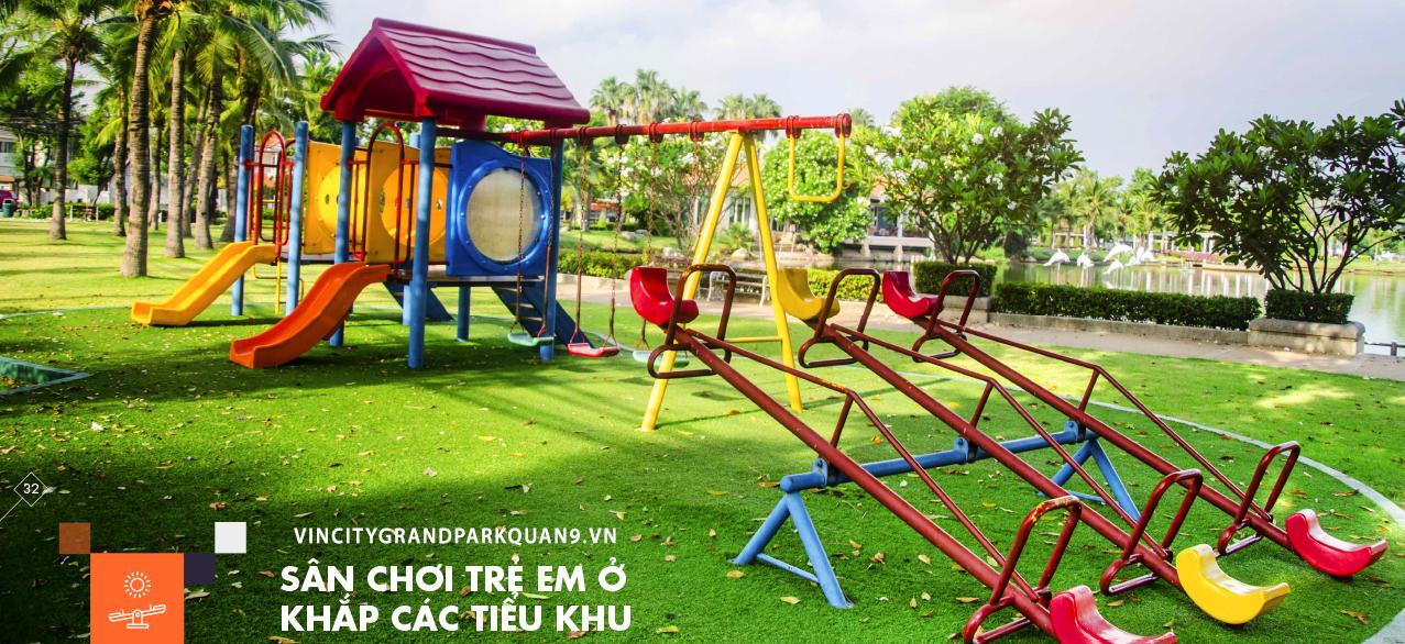 Vincity Grand Park Quận 9 -Sân chơi trẻ em khắp các tiểu khu