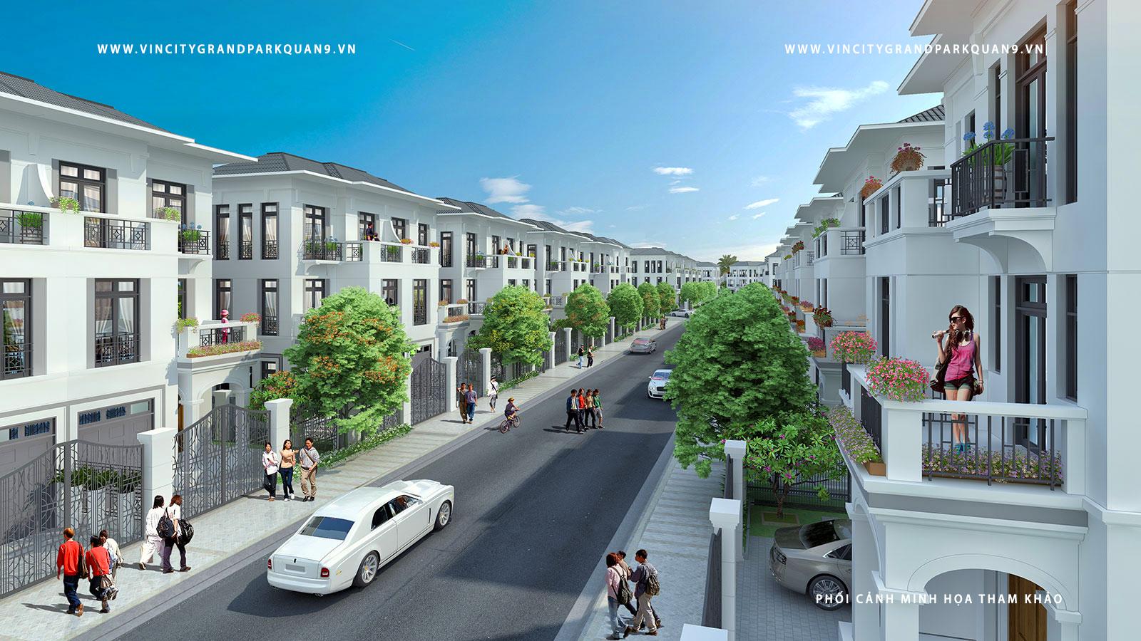 Phối cảnh nhà phố Vinhomes - Vihomes ( hình minh họa dự án - phối cảnh tham khảo )