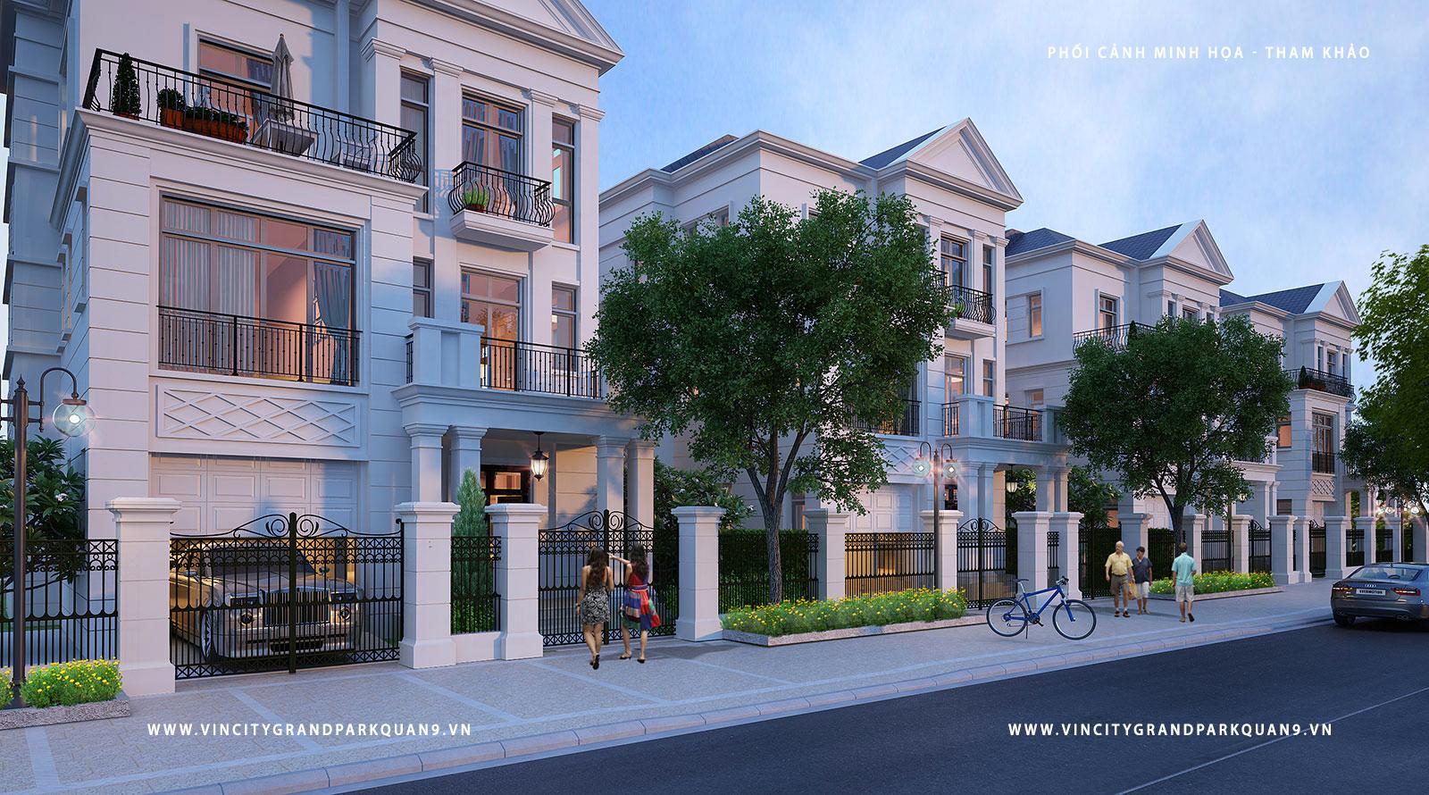 Phối cảnh nhà phố Vincity - Vinhomes ( hình phối cảnh minh họa )