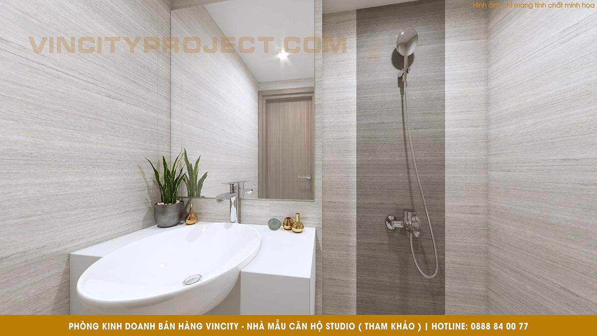 Căn hộ Studio Vincity Quận 9 - Nội thất Toilet tham khảo