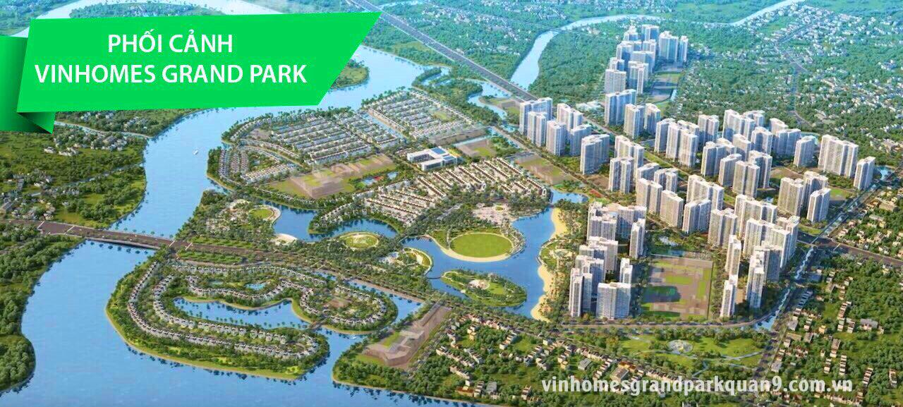 Phối cảnh toàn dự án 271ha Vinhomes Grand Park nhìn từ trên cao