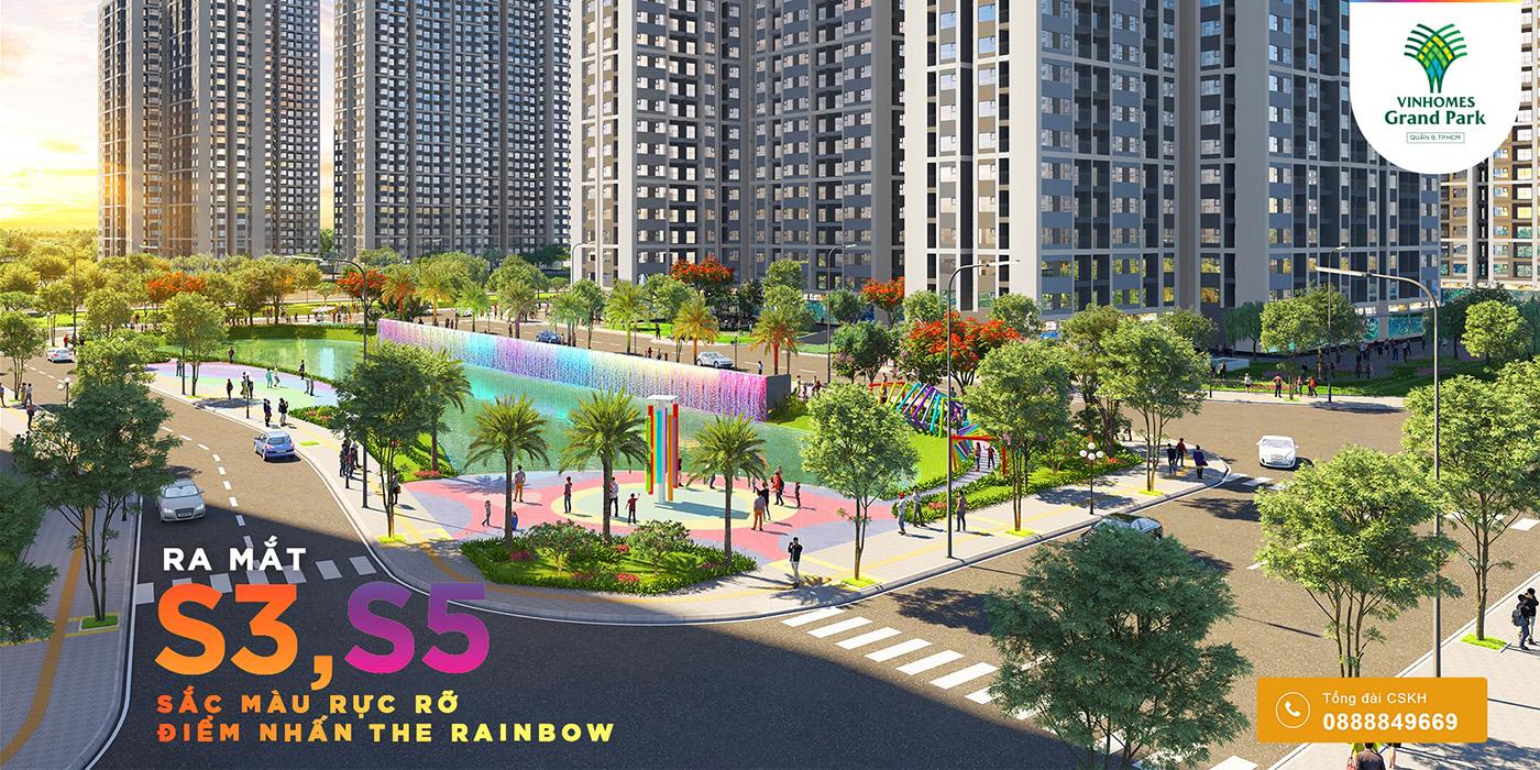 Phối cảnh công viên cầu vồng - phân khu 1 the rainbow