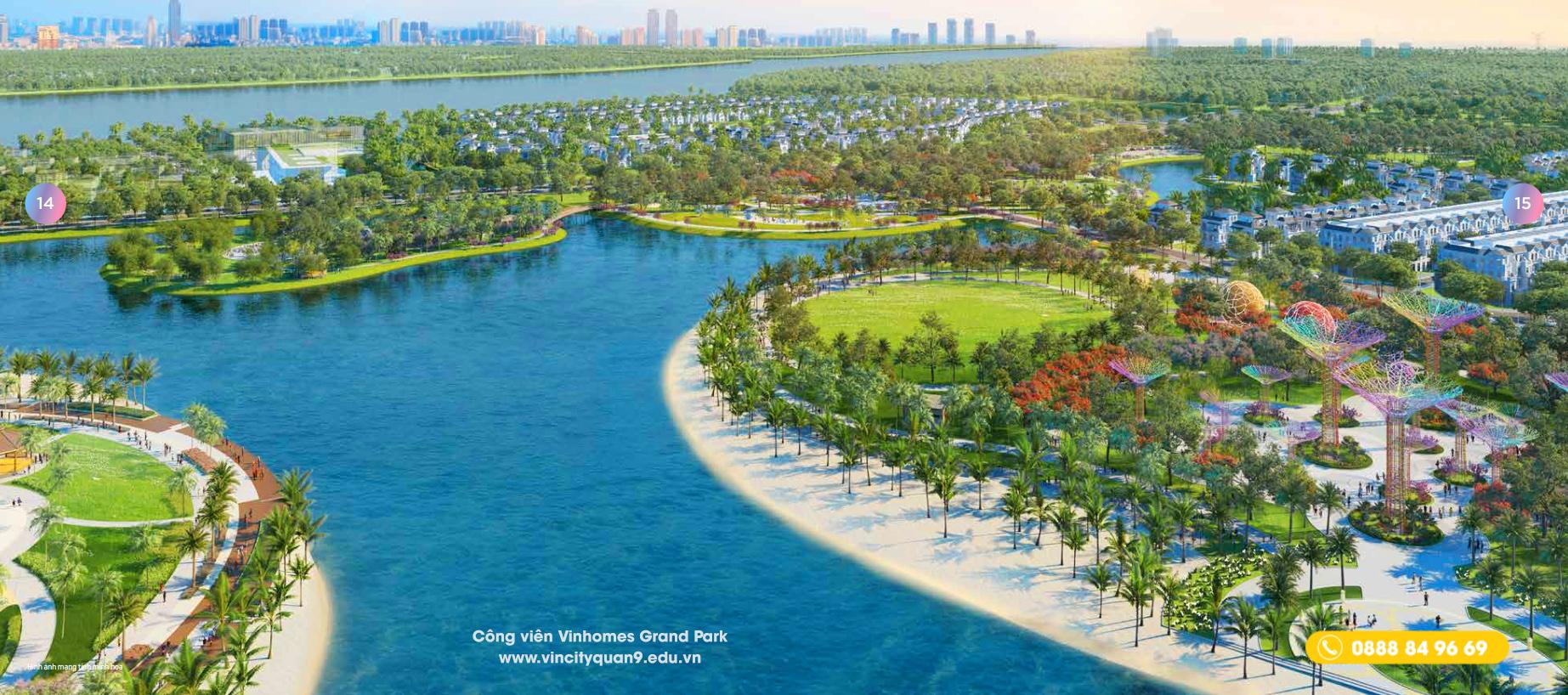 Vinhomes Grand Park Quận 9 - Kỳ quan công viên Cây Ánh SángGarden by the bay độc nhất vô nhị tại Việt Nam. Lấy ý tưởng từcông viên tự nhiên Gardens by the Bay nằm ở trung tâm Singapore và tiếp giáp với Marina Reservoir.