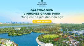 Công viên Vinhomes Grand Park quy mô hàng đầu Đông Nam Á