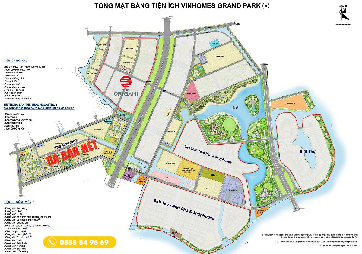 Mặt bằng tổng thể Vinhomes Grand Park - Vinhomes quận 9